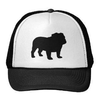 English Bulldog Silhouette Cap