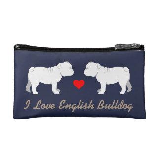 English Bulldog Silhouette Cosmetic Bag