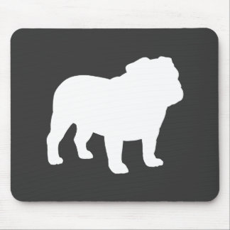 English Bulldog Silhouette Mouse Pads
