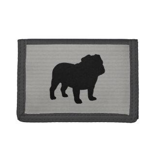 English Bulldog Silhouette Tri-fold Wallet