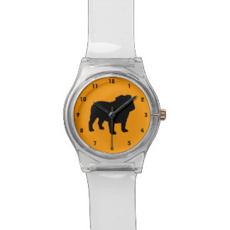 English Bulldog Silhouette Watch