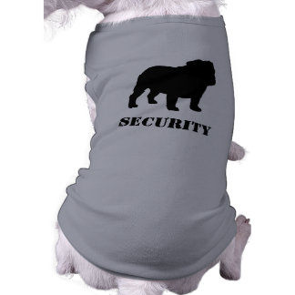 English Bulldog Silhouette with Customizable Text Shirt