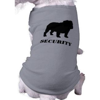 English Bulldog Silhouette with Customizable Text Sleeveless Dog Shirt