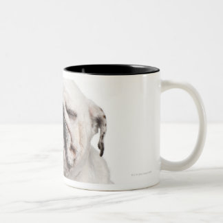 English Bulldog, sitting Two-Tone Coffee Mug