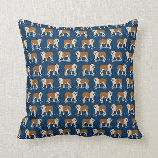 English Bulldog skateboard pillow decor pet gifts Throw Cushions