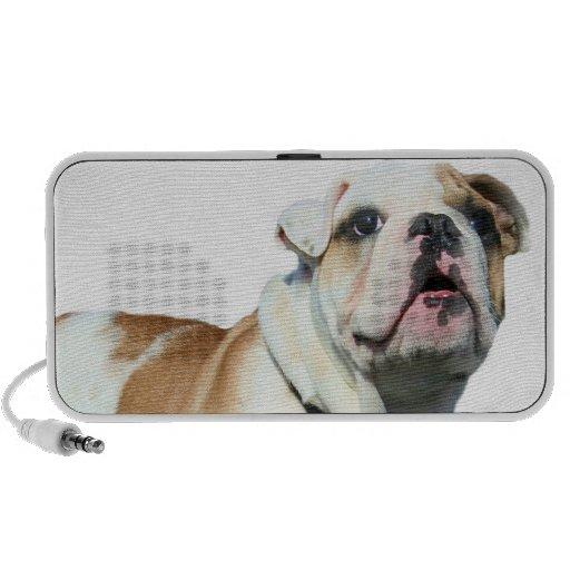 English bulldog notebook speakers