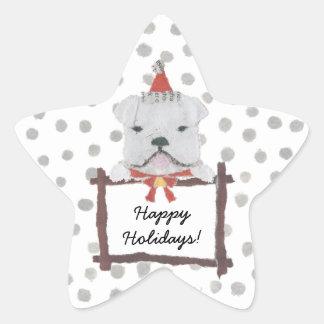 English, Bulldog Star Sticker