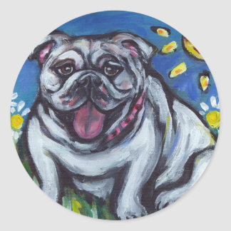 English Bulldog sun smile Stickers