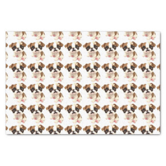 English Bulldog Tissue Wrapping Paper