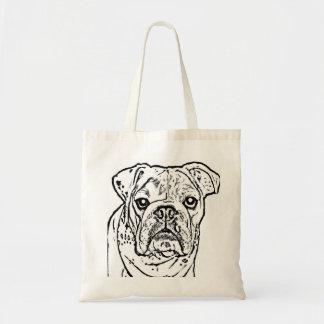 English Bulldog tote Budget Tote Bag