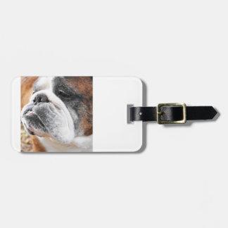 English Bulldog Travel Bag Tags