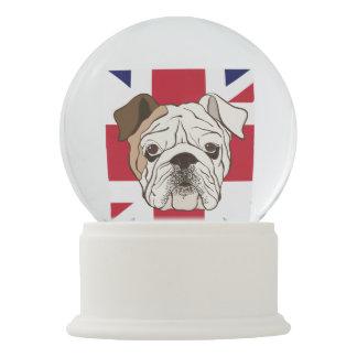 English Bulldog & Union Jack Snowglobe Snow Globes