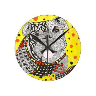 English Bulldog Wall Clock (You can Customise)