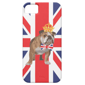 English Bulldog with Crown and Union Jack  Bow Tie iPhone 5 Cover