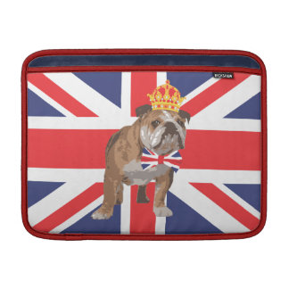 English Bulldog with Crown Macbook Cover MacBook Air Sleeves