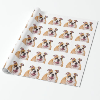 English Bulldog Wrapping Paper