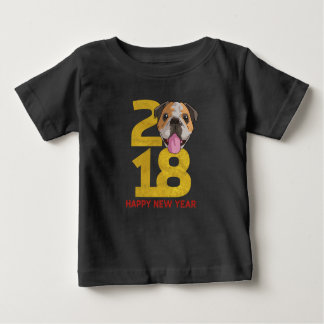 English bulldog Year of the Dog 2018 New Year Baby T-Shirt