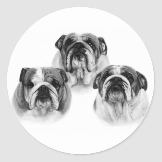 English Bulldogs Classic Round Sticker