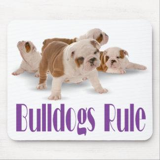 English Bulldogs Rule Puppy Dog Canine Mousepad