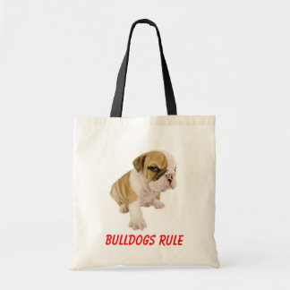 English Bulldogs Rule Puppy Dog  Love  Tote Bag