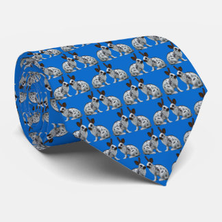 English Bunny Frenzy 2 Tie (Blue)
