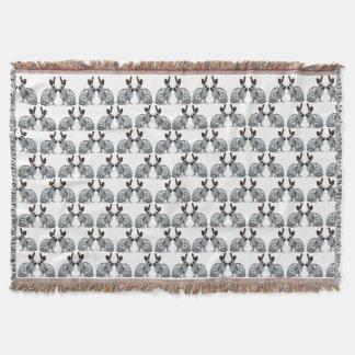 English Bunny Frenzy Throw Blanket (choose colour)