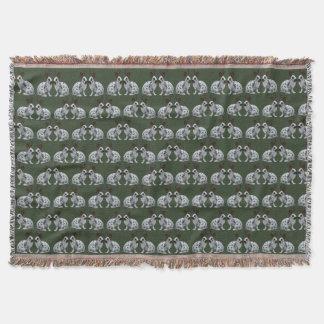 English Bunny Frenzy Throw Blanket (Green)