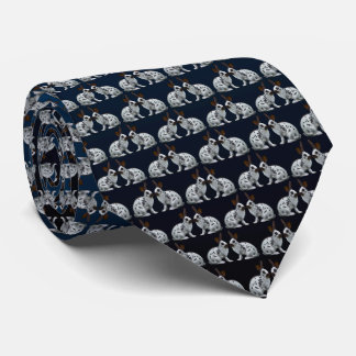 English Bunny Frenzy Tie (Blue/Black)