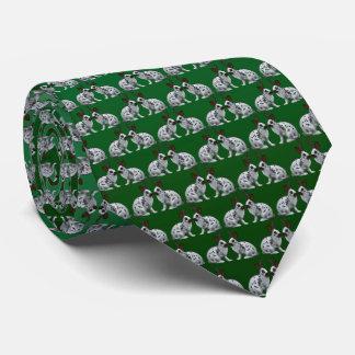 English Bunny Frenzy Tie (Dark/Light Green)