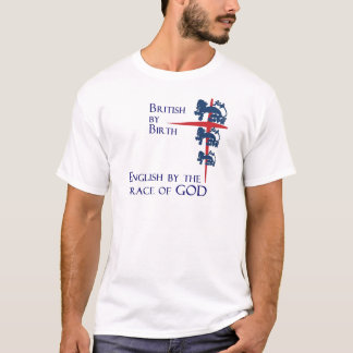 English By the Grace of God Football Fan T-Shirt