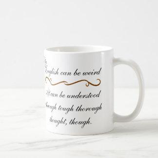 English can be weird coffee mug