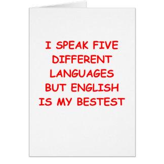 english card