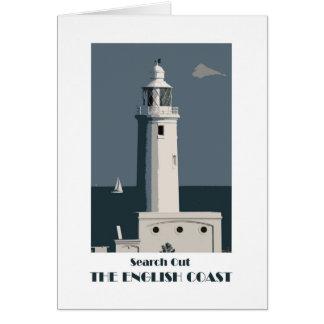 English Coast 1920s-style retro greetings card