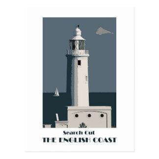 English Coast 1920s-style retro postcard