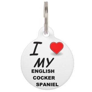 english cocker sp love pet ID tag