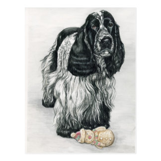 English Cocker Spaniel Art Postcard