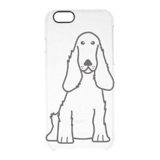 English Cocker Spaniel Dog Cartoon Clear iPhone 6/6S Case