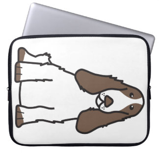 English Cocker Spaniel Dog Cartoon Computer Sleeve