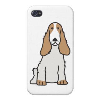 English Cocker Spaniel Dog Cartoon Cover For iPhone 4