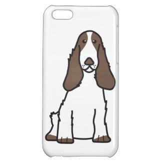 English Cocker Spaniel Dog Cartoon Cover For iPhone 5C