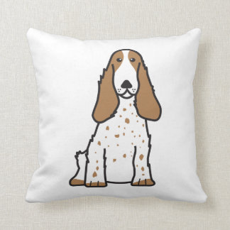 English Cocker Spaniel Dog Cartoon Cushion