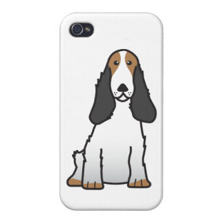 English Cocker Spaniel Dog Cartoon iPhone 4 Cases