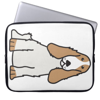 English Cocker Spaniel Dog Cartoon Laptop Computer Sleeve