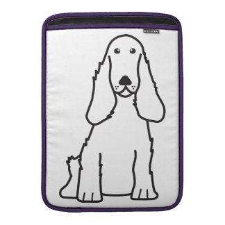 English Cocker Spaniel Dog Cartoon MacBook Air Sleeves