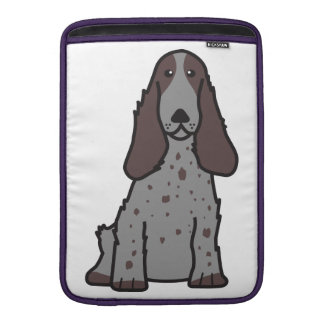 English Cocker Spaniel Dog Cartoon MacBook Sleeve