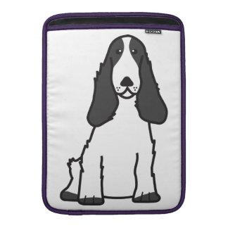 English Cocker Spaniel Dog Cartoon MacBook Sleeves