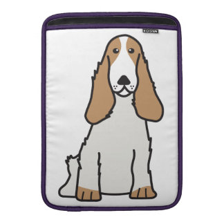 English Cocker Spaniel Dog Cartoon MacBook Sleeves
