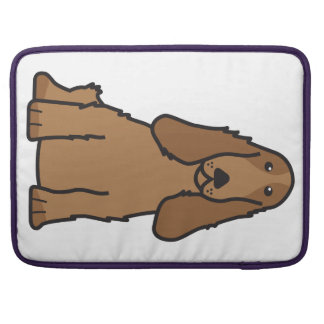English Cocker Spaniel Dog Cartoon Sleeve For MacBooks