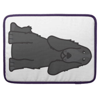 English Cocker Spaniel Dog Cartoon Sleeves For MacBooks