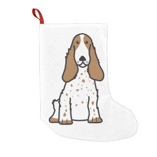 English Cocker Spaniel Dog Cartoon Small Christmas Stocking
